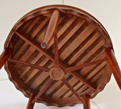 Paolo Buffa PAOLO BUFFA unique round dining table cherrywood five legs 1950 - 1701391