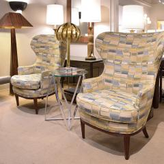 Paolo Buffa Pair Of Stylish Wingback Chairs In The Style Of Paolo Buffa 1950s - 1192076