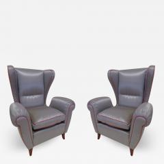 Paolo Buffa Pair of 1960s Italian Wing Chair Paolo Buffa Style Mid Century Modern - 1791471