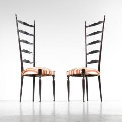 Paolo Buffa Pair of Paolo Buffa Highback Side Chairs Italy 1950 - 967229