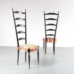 Paolo Buffa Pair of Paolo Buffa Highback Side Chairs Italy 1950 - 967230