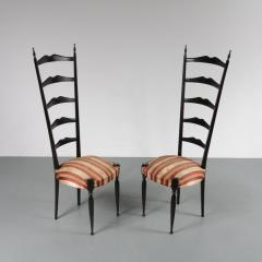 Paolo Buffa Pair of Paolo Buffa Highback Side Chairs Italy 1950 - 967232