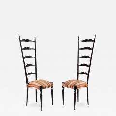 Paolo Buffa Pair of Paolo Buffa Highback Side Chairs Italy 1950 - 968148