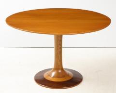 Paolo Buffa Paolo Buffa Oak and Rosewood Pedestal Dining Table - 1833513