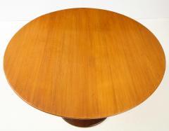 Paolo Buffa Paolo Buffa Oak and Rosewood Pedestal Dining Table - 1833520
