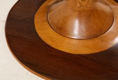 Paolo Buffa Paolo Buffa Oak and Rosewood Pedestal Dining Table - 1833521