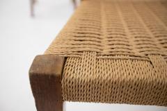Paolo Buffa Paolo Buffa Set of eight chairs in walnut wood and straw 1950s - 1889001
