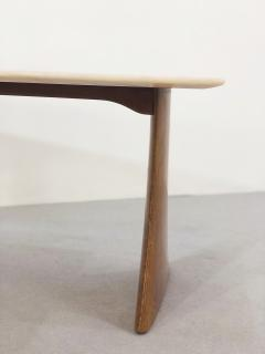 Paolo Buffa Paolo Buffa Side Table in pink marble and walnut 1950s - 1338028