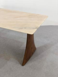 Paolo Buffa Paolo Buffa Side Table in pink marble and walnut 1950s - 1338029