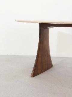 Paolo Buffa Paolo Buffa Side Table in pink marble and walnut 1950s - 1338030