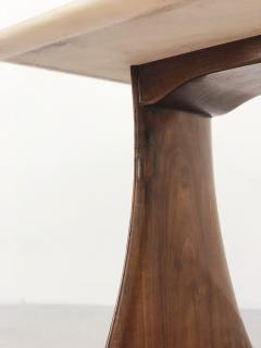 Paolo Buffa Paolo Buffa Side Table in pink marble and walnut 1950s - 1338032