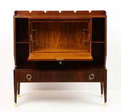 Paolo Buffa Rare Drop Front Bar Cabinet by Paolo Buffa - 1155971