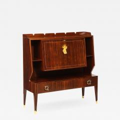 Paolo Buffa Rare Drop Front Bar Cabinet by Paolo Buffa - 1159909