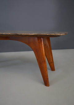 Paolo Buffa Rare table by Paolo Buffa in lunar marble in perfect condition  - 1074257