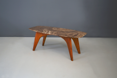 Paolo Buffa Rare table by Paolo Buffa in lunar marble in perfect condition  - 1074258