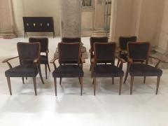 Paolo Buffa Set of 8 Dining Chairs Attributed to Paolo Buffa - 1036546