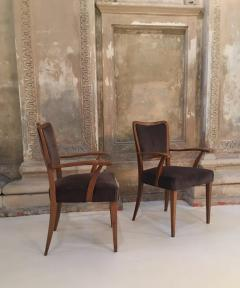 Paolo Buffa Set of 8 Dining Chairs Attributed to Paolo Buffa - 1036547