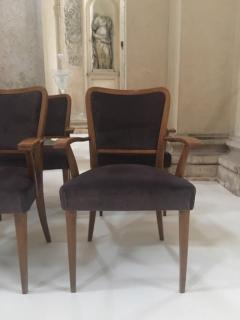 Paolo Buffa Set of 8 Dining Chairs Attributed to Paolo Buffa - 1036550