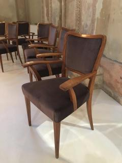 Paolo Buffa Set of 8 Dining Chairs Attributed to Paolo Buffa - 1036551