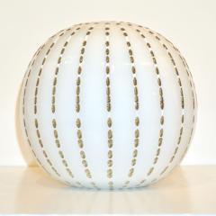 Paolo Crepax Paolo Crepax Italian White Murano Glass Modern Vase with Orange Dot Murrine - 1123406
