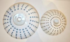 Paolo Crepax Paolo Crepax Italian White Murano Glass Modern Vase with Orange Dot Murrine - 1123414