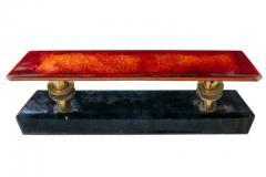 Paolo De Poli Paolo De Poli Enameled Copper Door Pulls with Brass Hardware - 1086999