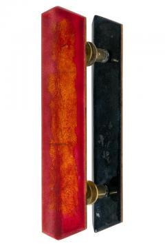 Paolo De Poli Paolo De Poli Enameled Copper Door Pulls with Brass Hardware - 1087002