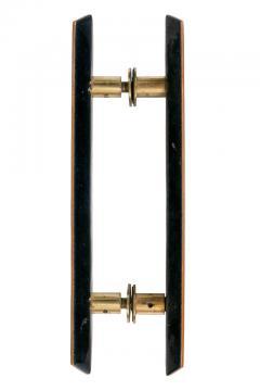 Paolo De Poli Paolo De Poli Enameled Copper Door Pulls with Brass Hardware - 1087003