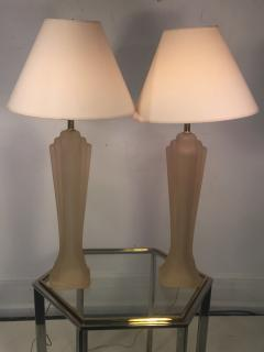 Paolo Gucci PAIR OF SCULPTED MODERN FROSTED RESIN LAMPS BY PAOLO GUCCI - 767843