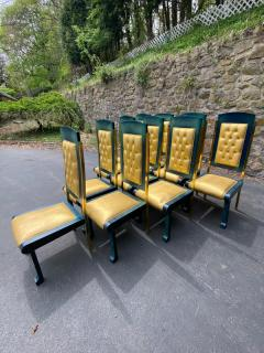 Paolo Gucci RARE MAGNIFICIENT OPULENT SUITE OF TEN DINING CHAIRS DESIGNED BY PAOLO GUCCI - 1951471