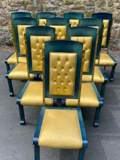 Paolo Gucci RARE MAGNIFICIENT OPULENT SUITE OF TEN DINING CHAIRS DESIGNED BY PAOLO GUCCI - 1951473