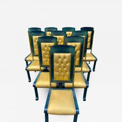 Paolo Gucci RARE MAGNIFICIENT OPULENT SUITE OF TEN DINING CHAIRS DESIGNED BY PAOLO GUCCI - 1953479