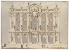 Paolo Posi Design for a Temporary Fa ade possibly for the Festa della Chinea of 1766 - 154155