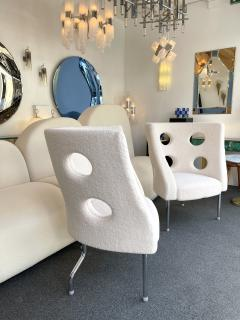 Paolo Rizzatto Contemporary Pair of Armchairs Boucl Fabric by Paolo Rizzatto Italy - 1936600