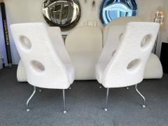Paolo Rizzatto Contemporary Pair of Armchairs Boucl Fabric by Paolo Rizzatto Italy - 1936601
