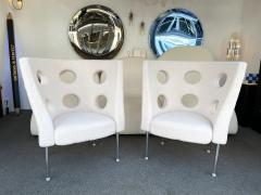 Paolo Rizzatto Contemporary Pair of Armchairs Boucl Fabric by Paolo Rizzatto Italy - 1936604