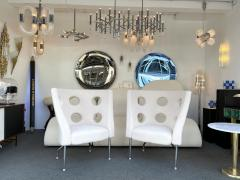 Paolo Rizzatto Contemporary Pair of Armchairs Boucl Fabric by Paolo Rizzatto Italy - 1936606