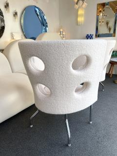 Paolo Rizzatto Contemporary Pair of Armchairs Boucl Fabric by Paolo Rizzatto Italy - 1936607