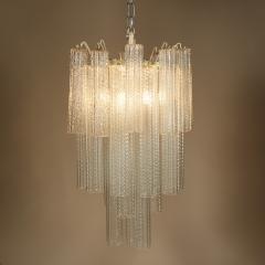 Paolo Venini 1950s Italian glass cylindrical chandelier by Venini II - 1964465