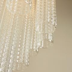 Paolo Venini 1950s Italian glass cylindrical chandelier by Venini II - 1964493