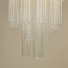 Paolo Venini 1950s Italian glass cylindrical chandelier by Venini II - 1964497