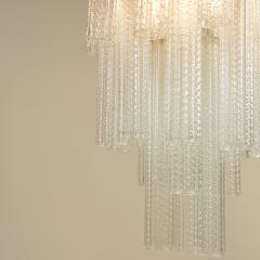 Paolo Venini 1950s Italian glass cylindrical chandelier by Venini II - 1964499