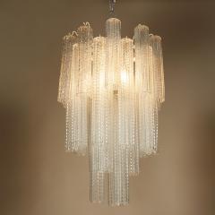 Paolo Venini 1950s Italian glass cylindrical chandelier by Venini II - 1964500