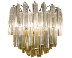 Paolo Venini Amber Yellow Crystal Pendant Light After Venini - 540938