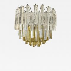 Paolo Venini Amber Yellow Crystal Pendant Light After Venini - 545821