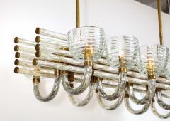 Paolo Venini Large 1930s Paolo Venini Murano Glass and Brass Chandelier - 2077651