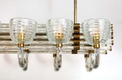 Paolo Venini Large 1930s Paolo Venini Murano Glass and Brass Chandelier - 2077661