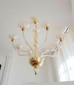 Paolo venini large clear gold murano glass venini chandelier 1970s paolo venini large clear gold murano glass venini chandelier 1970s 627622 aloadofball Images