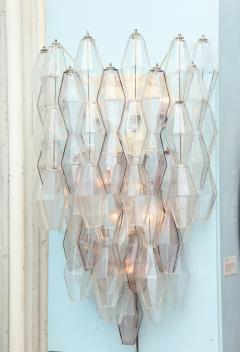 Paolo Venini Large Scale Pair of Polyhedri Sconces by Paolo Venini for Venini - 411213