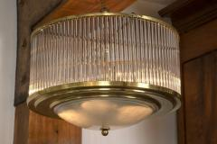 Paolo Venini Larger Vintage Venini Brass Straw Ceiling Fixture 2 available - 1006380